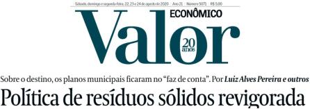 Valor Economico – Política de resíduos sólidos – 2020-08-24